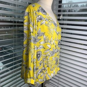 a new day Tops - A New Day Yellow Floral Blouse